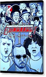 Bill And Teds Excellent Adventure Acrylic Print by Gary Niles