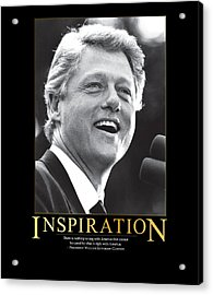 Bill Clinton Inspiration Acrylic Print by Retro Images Archive