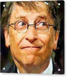 Bill Gates Acrylic Print