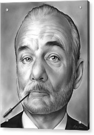 Bill Murray Acrylic Print by Greg Joens