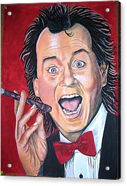 Bill Murray Acrylic Print by Linda Vaughon