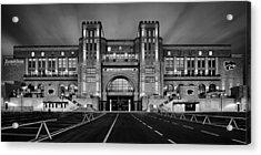Bill Snyder Family Stadium - Bw Acrylic Print by Thomas Zimmerman