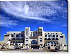 Bill Snyder Family Stadium Acrylic Print by Jean Hutchison