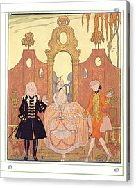 'billet Doux' Acrylic Print by Georges Barbier