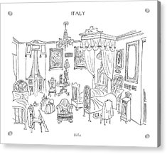 Billet Acrylic Print by Saul Steinberg