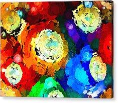 Billiard Balls Abstract Digital Art Acrylic Print by Vizual Studio