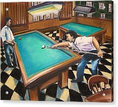 Billiard Hall Acrylic Print