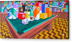 Acrylic Print featuring the painting Billiard Table by Lorna Maza