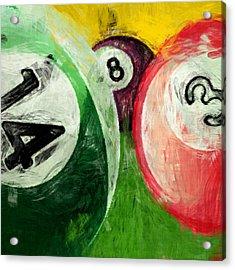 Billiards 14 3 8  Acrylic Print by David G Paul