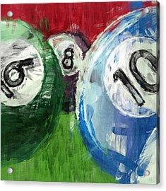 Billiards 6 8 10 Acrylic Print by David G Paul