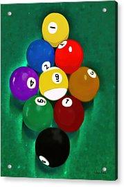 Billiards Art - Your Break 1 Acrylic Print