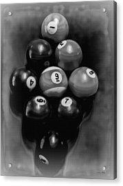 Billiards Art - Your Break - Bw  Acrylic Print by Lesa Fine