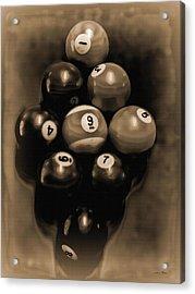 Billiards Art - Your Break - Bw Opal Acrylic Print