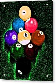Billiards Art - Your Break Acrylic Print by Lesa Fine
