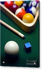 Billiards Acrylic Print by Tony Cordoza