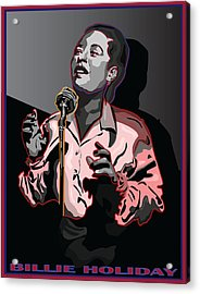 Billie Holiday Jazz Singer Acrylic Print by Larry Butterworth