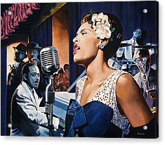 Billie Holiday - Lady Sings The Blues Acrylic Print by Jo King
