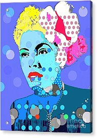 Billie Holiday Acrylic Print by Ricky Sencion