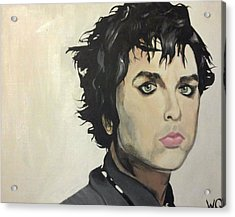 Billie Joe Armstrong Acrylic Print by Willow Quillen
