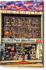 Billings Hardware Acrylic Print by Bob Winberry