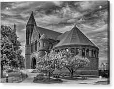 Billings Library At Uvm Burlington  Acrylic Print by Guy Whiteley