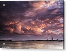 Billowing Clouds Acrylic Print by Fran Gallogly
