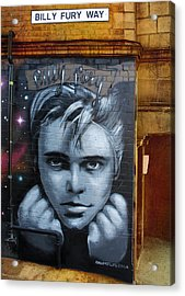 Billy Fury Way Acrylic Print by Stephen Norris