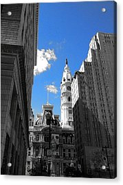 Billy Penn Blue Acrylic Print by Photographic Arts And Design Studio