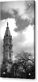 Billy Penn Vertical Bw Acrylic Print by Photographic Arts And Design Studio