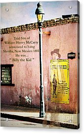 Billy The Kid Acrylic Print by Barbara Chichester