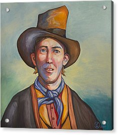 Billy The Kid Acrylic Print by Robert Lacy