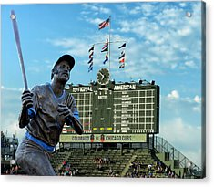 Billy Williams Chicago Cub Statue Acrylic Print by Thomas Woolworth