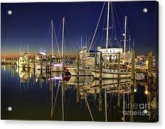 Biloxi Harbor Acrylic Print by Maddalena McDonald