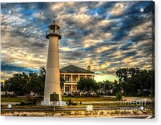 Acrylic Print featuring the photograph Biloxi Lighthouse And Welcome Center by Maddalena McDonald