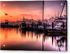 Acrylic Print featuring the photograph Biloxi Mississippi Harbor by Maddalena McDonald