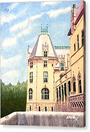 Acrylic Print featuring the painting Biltmore Balcony by Stacy C Bottoms