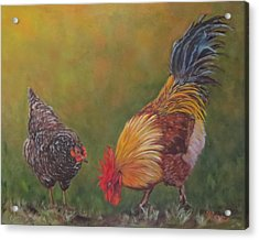 Biltmore Chickens  Acrylic Print