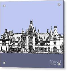 Biltmore Estate In Blues Acrylic Print by Adendorff Design