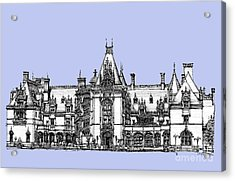 Biltmore Estate In Light Blue Acrylic Print by Adendorff Design