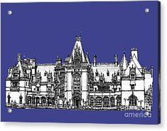 Biltmore Estate In Royal Blue Acrylic Print by Adendorff Design