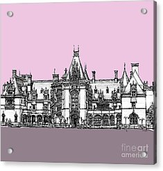Biltmore Estate Pink And Lilac Acrylic Print by Adendorff Design