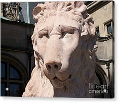 Biltmore Lion Acrylic Print by Gayle Melges