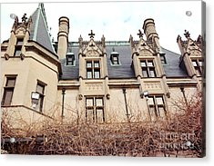 Biltmore Mansion Estate Architectural Windows And Rooftop Side View  Acrylic Print