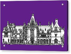 Biltmore Stately Home In Purple Acrylic Print by Building  Art