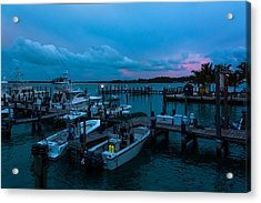 Bimini Big Game Club Docks After Sundown Acrylic Print