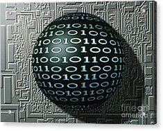 Binary Sphere Acrylic Print by Gregory MacNicol