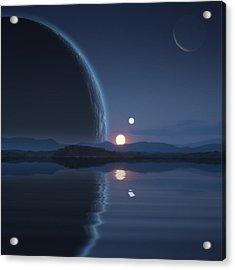 Binary Sunset No.2 Acrylic Print