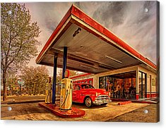 Bings Burger Station In Historic Old Town Cottonwood Arizona Acrylic Print by Priscilla Burgers