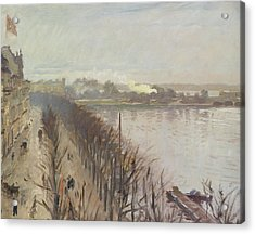 Binnenalster And Neuer Junfernstieg In Hamburg Acrylic Print by Laurits Regner Tuxen