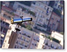 Binoculars View Of City Acrylic Print by Ioan Panaite